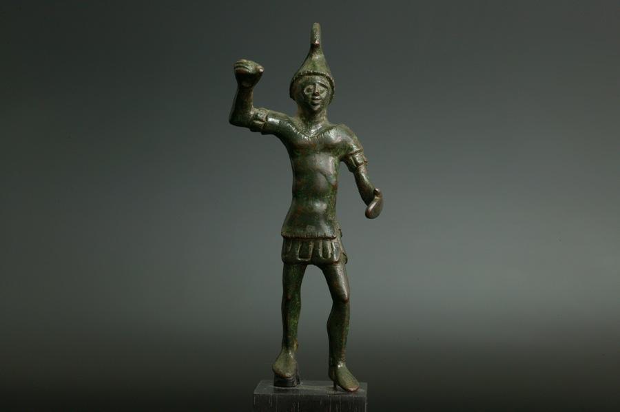 アンティーク 古代エトルリア 青銅の戦士像