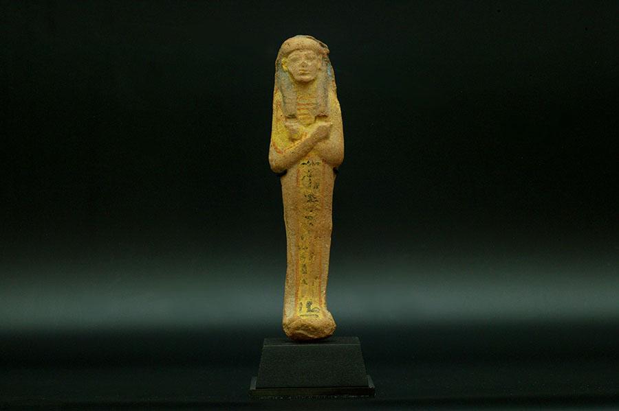 アンティーク 古代エジプト 多彩色テラコッタ製 ウシャブティ