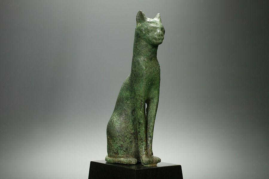 アンティーク 古代エジプト 第26王朝 青銅製 猫
