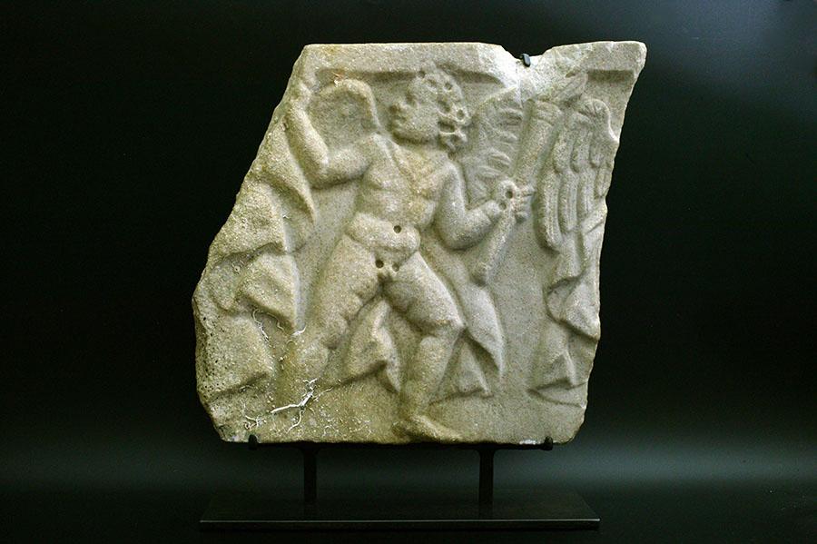 アンティーク 古代ローマ エロス  刳抜式石棺 レリーフ