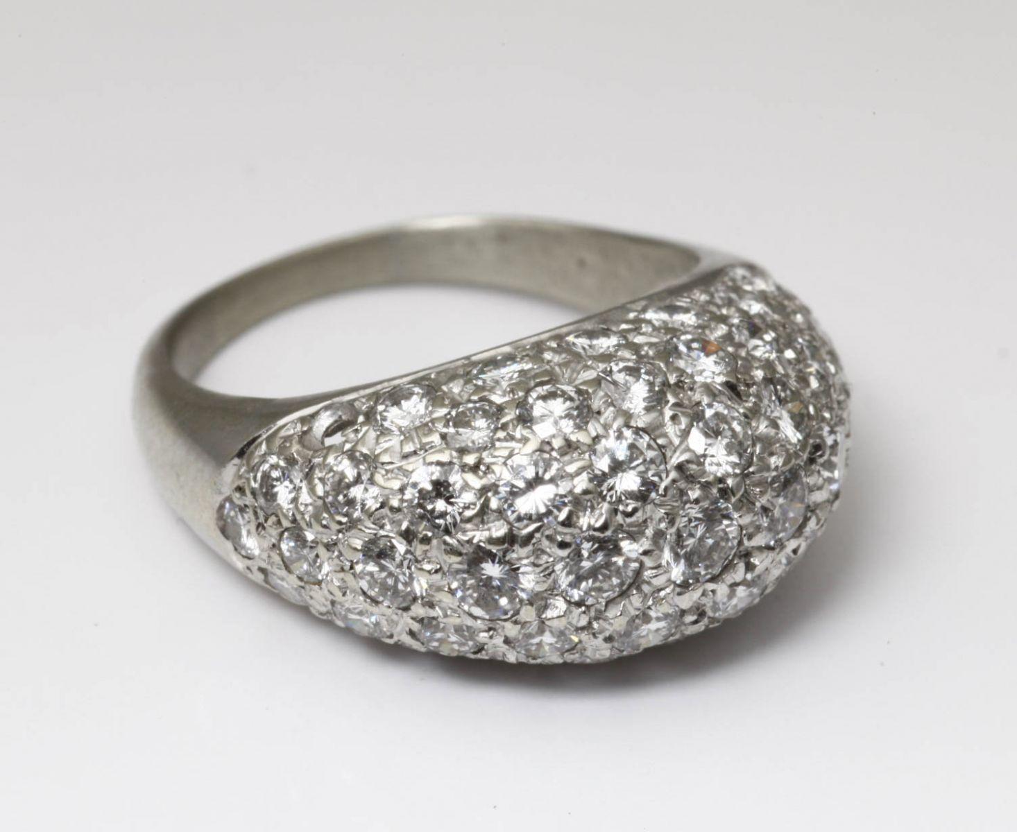 アンティークジュエリー アールデコ ボンブリング ダイヤモンド