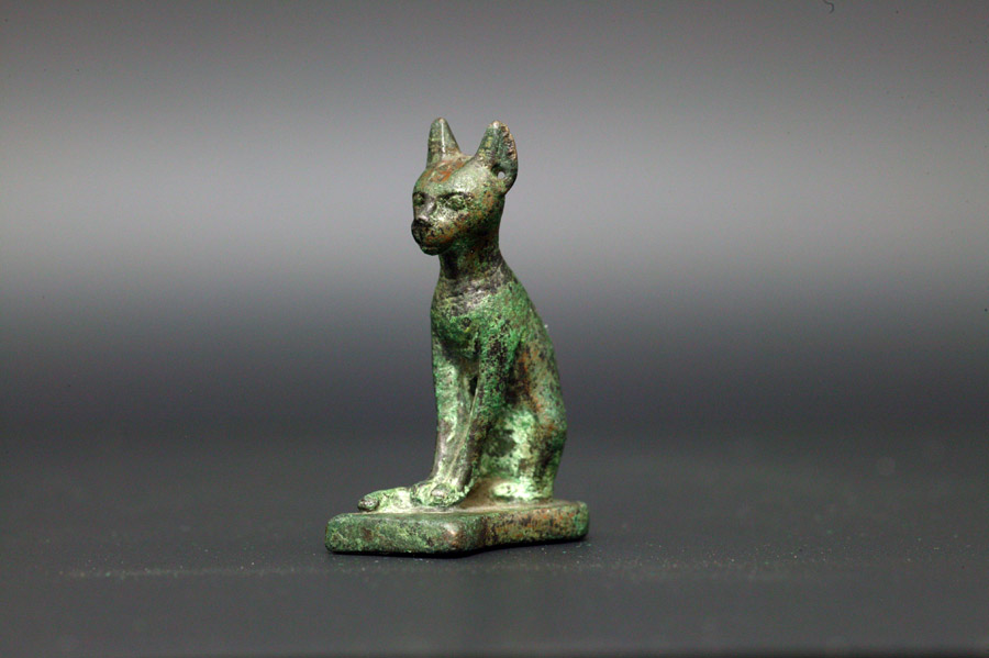 アンティーク エジプト 青銅製猫